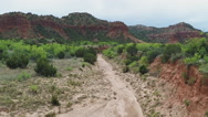 Stock Video Footage of Hiking Trail At Caprock Canyon State Park- Quitaque TX