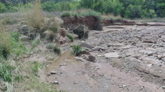 Small Creek Flowing- Caprock Canyon State Park- Quitaque TX Stock Footage