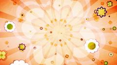 Flower Vintage Looping Background Stock Footage