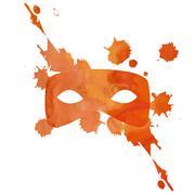 Vector aquarelle mask with splash Stock Illustration