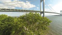 Aerial By the Verrazano Bridge - Brooklyn, New York Stock Footage