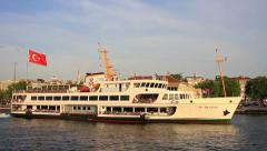 Kadikoy Coast, Ferry Pier in Istanbul, Turkey - stock footage