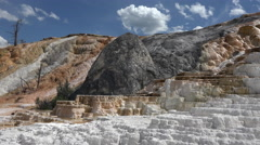 Mammoth Hot Springs Yellowstone cascade geysers 4K Stock Footage