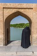 Si-o-Seh Pol, The Bridge of 33 Arches, in Isfahan, Iran - stock photo