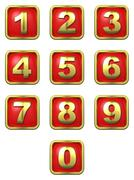 Stock Illustration of Gold Numbers in Frame