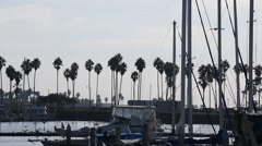Boat Harbor and Frieght Boat San Diego, California Stock Footage