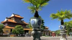 Ceramic vases in Old Vietnamese Imperial City, Hue City, Vietnam - stock footage