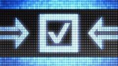 Checkbox icon on the screen. Looping. Stock Footage