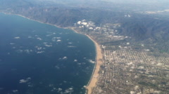 Los Angeles, California Flying Over - stock footage