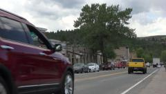 Nevada City Montana historic city center traffic 4K 010 Stock Footage