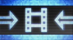 Cinema icon on the screen. Looping. - stock footage