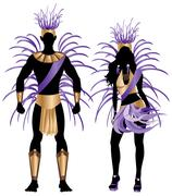 Carnival Silhouette Blue Couple Stock Illustration