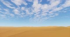 4k cloud flying over the desert & sand dunes. Stock Footage
