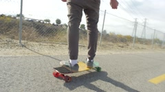 Long boarding board close path - stock footage