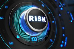 Risk Controller on Black Control Console Stock Illustration