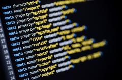 Meta tags html code Stock Photos