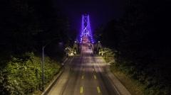 Vancouver BC lion gate bridge time lapse - stock footage