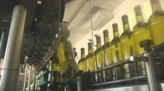 Spilling wine factory Stock Footage