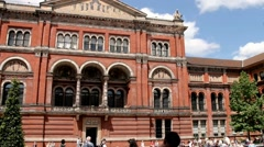 Stock Video Footage of Courtyard of Victoria and Albert Museum (1852)