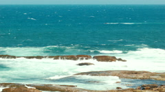 Stock Video Footage of Waves Crashing On Rocks