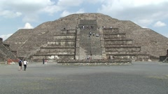 Teotihuacan aztec pyramid. Mexico. Stock Footage