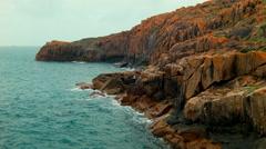 Rocky Western Australian Coastline Stock Footage