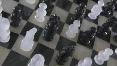 4K Overview Glass Chess Board - stock footage