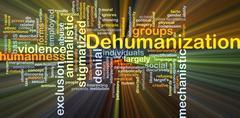 Dehumanization background concept glowing Stock Illustration