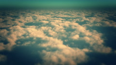 4k timelapse,aerial of white cloud mass flying in sky from high altitude. Stock Footage