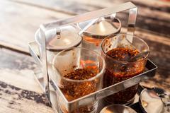 Thai condiment peppe - stock photo