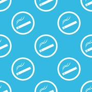 Smoking sign blue pattern Stock Illustration