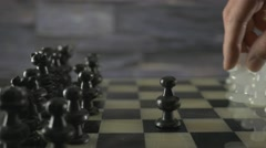 4K Pawn vs Pawn Chess Game Board Stock Footage