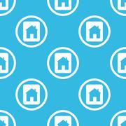 House plate sign blue pattern - stock illustration