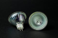 Two round halogen lamps - stock photo