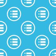 Dotted list sign blue pattern Stock Illustration
