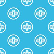 Cogs sign blue pattern - stock illustration