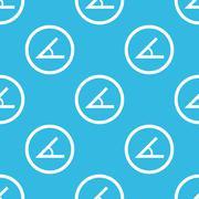 Angle sign blue pattern Stock Illustration
