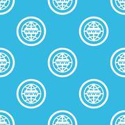 Global network sign blue pattern - stock illustration