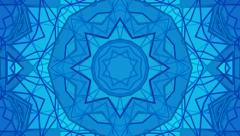 Abstract background animation. Blue geometric pattern. Seamless loop. Stock Footage