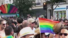 LGBT Pride Paris, France 2015 Stock Footage