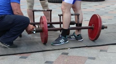Weightlifting equipment. Stock Footage