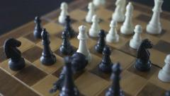 4K Queen Takes King Checkmate Chess Game Stock Footage