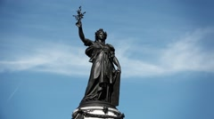 Famous Place de la Republique Monument, France - 1080p Stock Footage