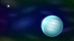 Planet Uranus, Seamless Loop Stock Footage