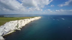 Old Harry Rocks cliffs South England UK Stock Footage