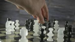 4K Queen Takes Queen Chess Board Game - stock footage