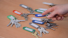 Handing The Right Keys Into Hand - stock footage