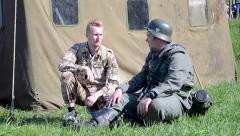 Soldiers, Military History Festival Peremoga.UA, Kiev, Ukraine. Stock Footage