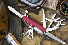Swiss Army Style Knife - Great Outdoors Stock Photos