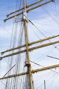 Mast and ropes - stock photo